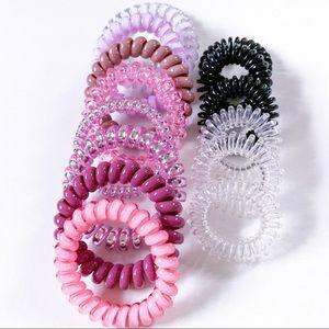 NEW 14 Spiral No Crease Hair Ties Variety Set